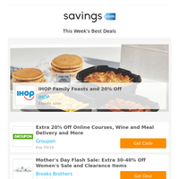 Happy Mother's Day! Extra 20% Off at Groupon | BOGO + 15% Off at EyeBuyDirect | Extra 30% Off at JCPenney | 15% Off at GNC | Old Navy & More