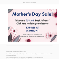 Your Mother's Day discount is ready to be activated!