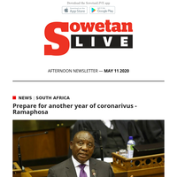 Prepare for another year of coronarivus - Ramaphosa | New Safa acting chief executive Tebogo Motlanthe not afraid to change things