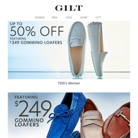 TOD's: Up to 50% Off & $249 Gommino Loafers | The Father's Day Shop
