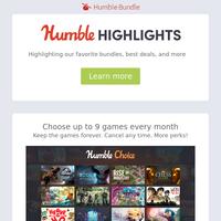 This week at Humble: Humble Games gives free game, lots of sales, bundles ending soon