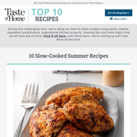 10 Slow-Cooked Summer Recipes
