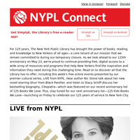 NYPL Connect: This week! Discover Stacy Schiff's Cleopatra, Shuri from Black Panther, and more with LIVE from NYPL