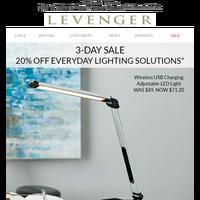 A Bright Idea. 20% off Lighting + Furniture.