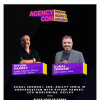 AgencyCon 2020: Catch Kunal Jeswani, CEO at Ogilvy India in conversation with Piyush Pandey, Chief Creative Officer, Worldwide, Ogilvy
