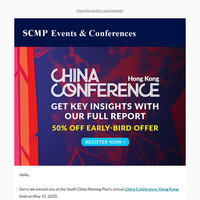 We missed you at the China Conference: Hong Kong - Insight Report & Conference Video