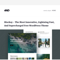 Blocksy Free Gutenberg WordPress Theme, Build Social Media Presence, Login Forms Examples, Intersection Observer, Modern CSS, Axe Linter, Furniture App Concept, 40 HTML Landing Pages