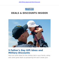 9 Father's Day Gift Ideas and Military Discounts