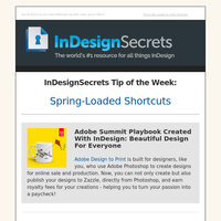 Tip of the Week: Spring-Loaded Shortcuts