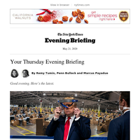 Your Thursday Evening Briefing