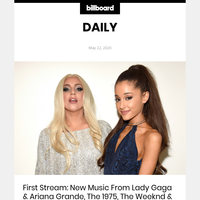 First Stream: New Music From Lady Gaga & Ariana Grande, The 1975, The Weeknd & Doja Cat