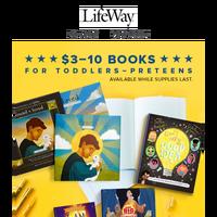 Feel God's love with $7–$10 books by Sally Lloyd Jones, Beth Moore, and Lysa TerKeurst.