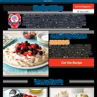 Flourless Berry Pavlova