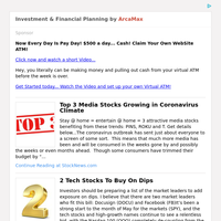 Investment & Financial Planning for Saturday May 23, 2020
