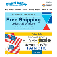 Today Only! 50% off Patriotic Flash Sale + Free Shipping
