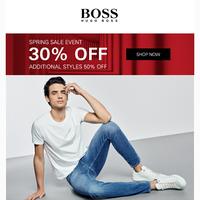 30% Off BOSS Jeans