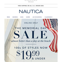 Patriotic polos for him, now $19.99 & under