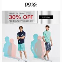 30% Off BOSS Summer Essentials