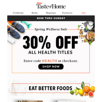 STAY WELL! Take 30% OFF All Health Books Now