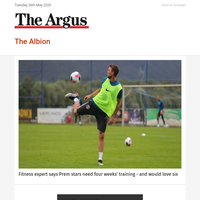 The Albion: Fitness expert says Prem stars need four weeks' training - and would love six
