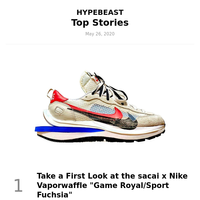 Your Top Stories: Take a First Look at the sacai x Nike Vaporwaffle \