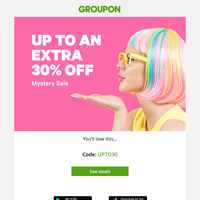 Love a discount? Score up to an EXTRA 30% off