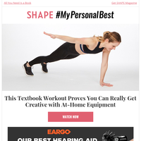 This Workout Proves You Can Really Get Creative with At-Home Equipment