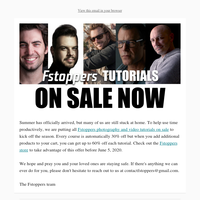 Photography and Video Tutorials - Massive Summer Sale