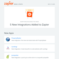 🚀 5 New Integrations Added to Zapier