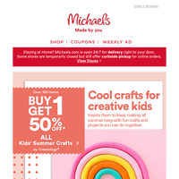 Summer approved: You've unlocked kids' crafts and summer savings!