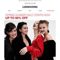 Spring Summer Sale Starts NOW!