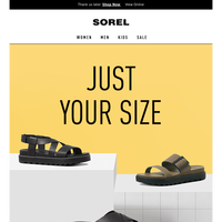 Click on your size, fall in love.