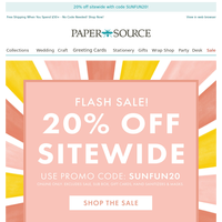 Just in Time for Summer! 20% off Sitewide.