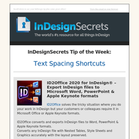 Tip of the Week: Text Spacing Shortcuts