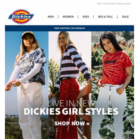 Just In: New Dickies Girl Summer Styles
