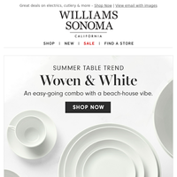Summer table trend: woven & white