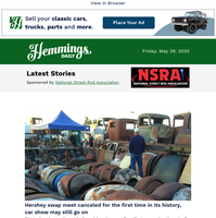Hemmings Daily: Hershey swap meet canceled for the first time in its history