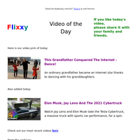 ★ Video of the Day & Quote of the Day - by Flixxy.com - This Grandfather  Conquered The Internet - Dance!