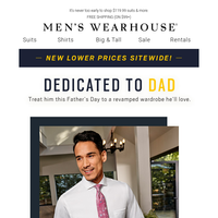Make Father's Day extra special with 4/$125 shirts