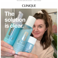The (acne) solution is clear.