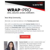 [Reminder] TheWrap invites you to our Webinar: \