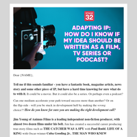 Adapting IP: How Do I Know if My Idea Should Be Written as a Film, TV Series or Podcast?