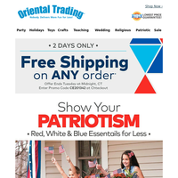 Patriotic Essentials for Less + Free Shipping on ANY Order!