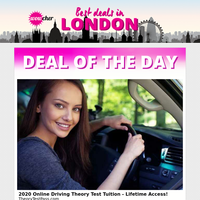 Online Driving Theory Test Tuition £12 | 50% Off Brilliant Brainz Magazine Subscription £3 | Counselling & Psychotherapy Online Course £12 | Full-Body At-Home Pamper Kit £12 | Level 2 Food Hygiene Catering Course £9