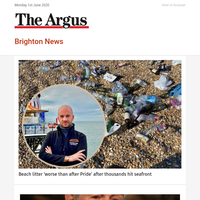 Brighton News: Beach litter 'worse than after Pride' after thousands hit seafront