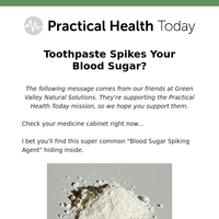 Toothpaste spikes your blood sugar?
