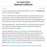 Essential California: A long weekend of unrest