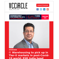 ESR India head on prospects of warehousing; US pension fund backs India VC fund; CPPIB's India exposure grows; Stellaris makes health-tech bet