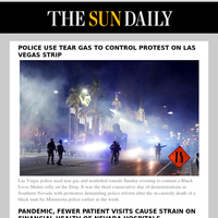 Police use tear gas to control protest on Las Vegas Strip