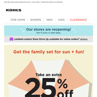 Take an extra 25% off sunny day faves!